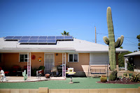 Sunshine and Strife: It will take smarter rooftop solar installations to get around Arizona utility rules that have halted growth in the state. (Photo Credit: Sandy Huffaker/Corbis) Click to Enlarge.