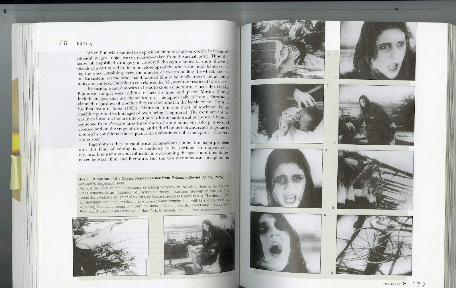 eisensteins use of montage and shot Lastly, overtonal montage resulted from the conflict between the tonal principle of the shot (the dominant) and the overtonal (eisenstein, 2009e, p 120) as a highest category of montage he established intellectual montage as a montage of overtones of an intellectual order.