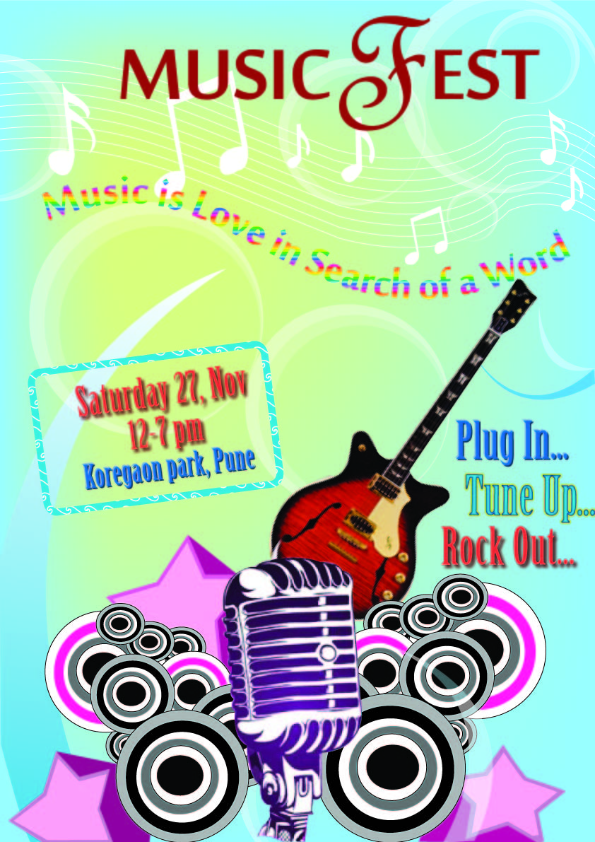 Poster design using illustrator - Created A Simple Design Of Music Concert In Illustrator