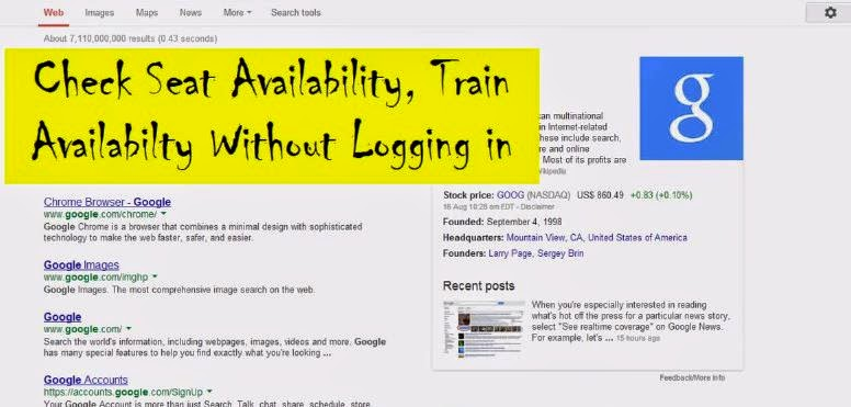 check irctc availability of trains