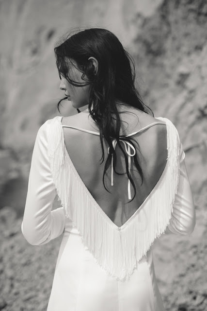Open back wedding gown by And For Love