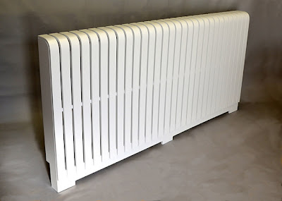 Stunning radiator cover painted white