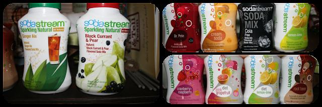 A sampling of Soda Stream Flavores