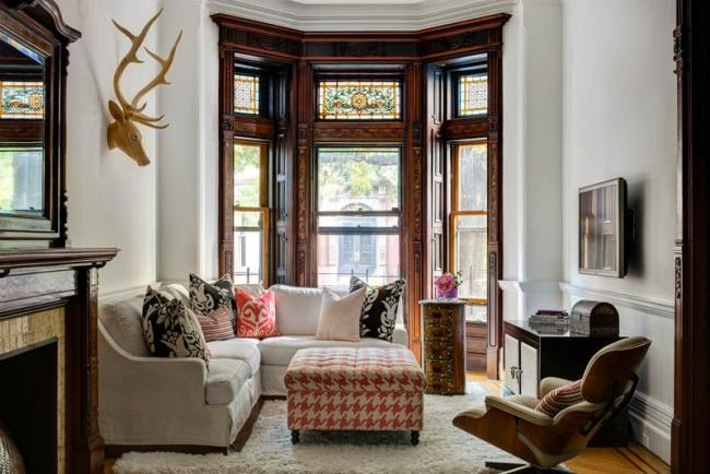 Espectacular remodelacio n de una casa victoriana en for Living room brooklyn