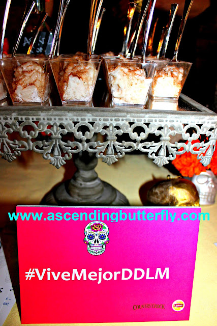 Dia De Los Muertos Sweets Bar Arroz Con Leche sponsored by Country Crock and Lipton at We All Grow Summit speaks at #WeAllGrowNYC 2015 #ViveMejorDDLM