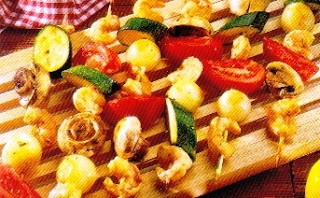 Picture of Shrimp and Vegetable Brochettes