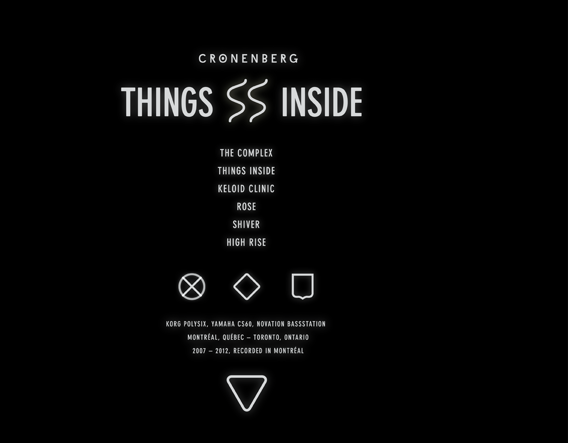 Cronenberg - Things Inside