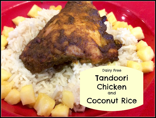 Dairy free Gluten free tandoori chicken and coconut rice