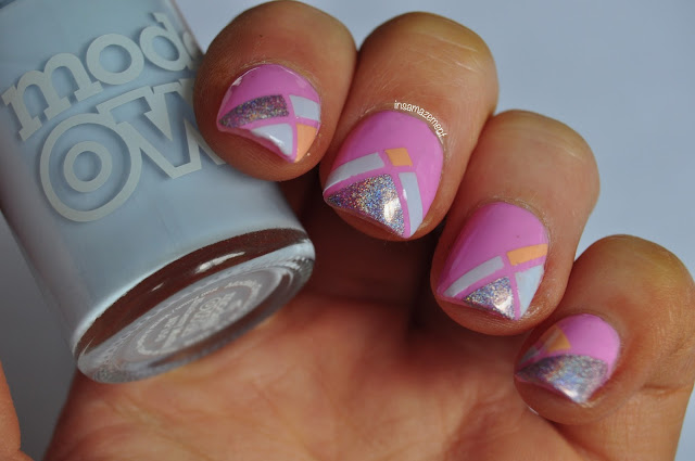 Summer Geometric Nail Art Tutorial
