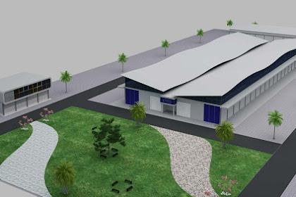 Jasa Desain Gudang 3D Eksterior bangunan lengkap