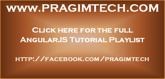 AngularJS tutorial for beginners