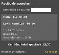 Apuestas Deportivas Rosberg Hamilton Formula 1 + Voleibol – Campeonato 2014 + FIVB Gran Copa de Campeones