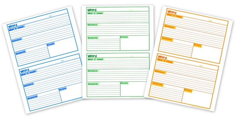 Aussie Pumpkin Patch: Vocabulary Notebooking Pages