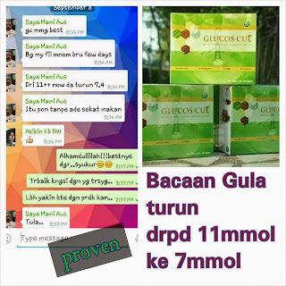 testimoni glucos cut (gc tea)