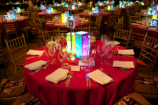 Illuminted Centerpiece with graphics and photos