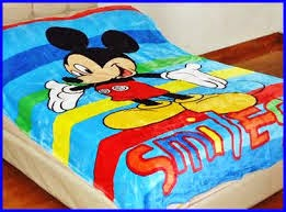 Jual Selimut New Seasons Blanket mickey smile
