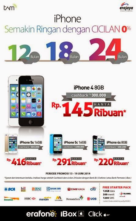 iPhone Cicilan 0% mulai Rp 145 Ribuan selama 24 bulan