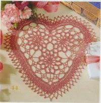Patron carpeta forma de corazon