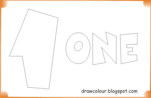 printable-one-coloring-pages