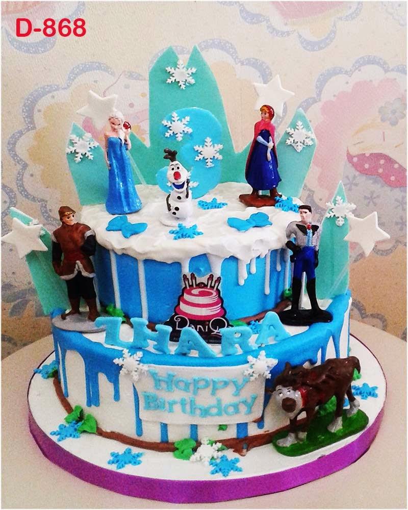 DaniQa Cake and Snack Kue Ulang tahun Disney Frozen