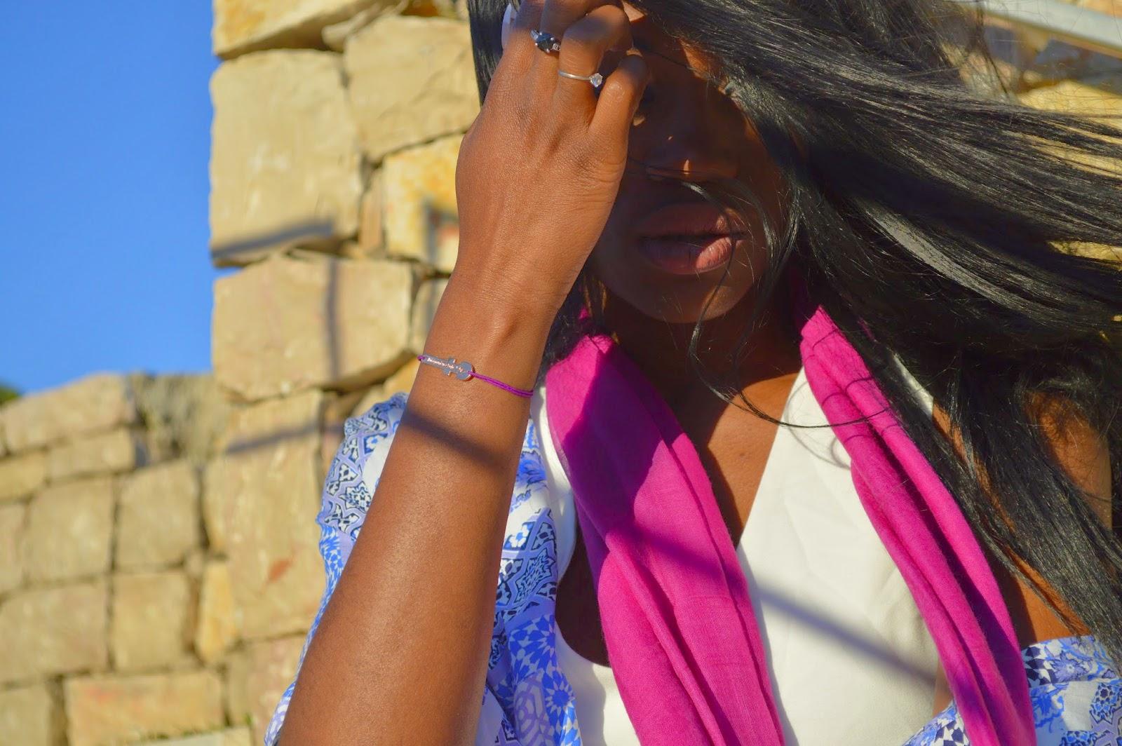 kimono, foulard, combinaison, bracelet j'ai épousé une perle