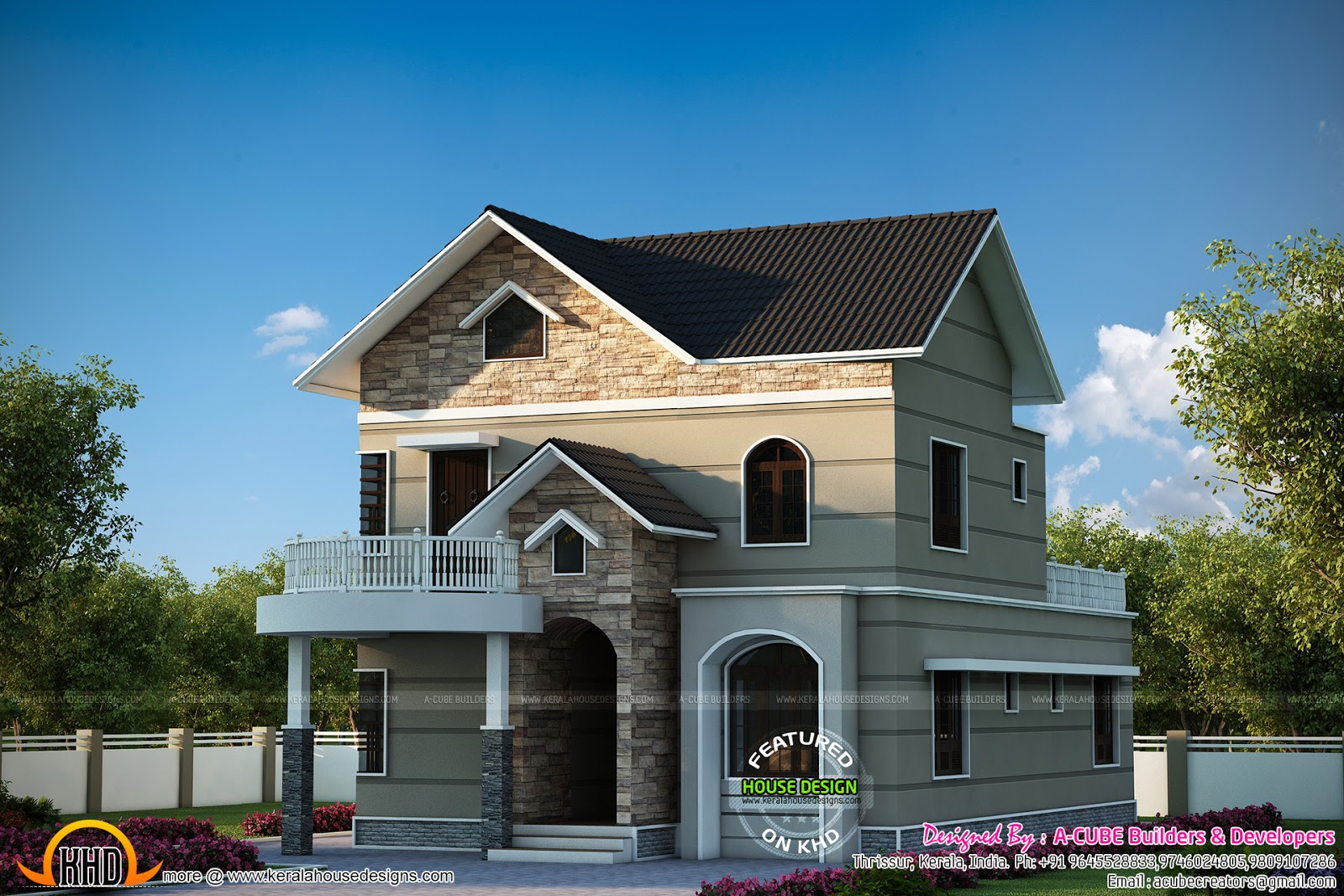 Magnificent kerala dream home with plan kerala home for Kerala dream home plans