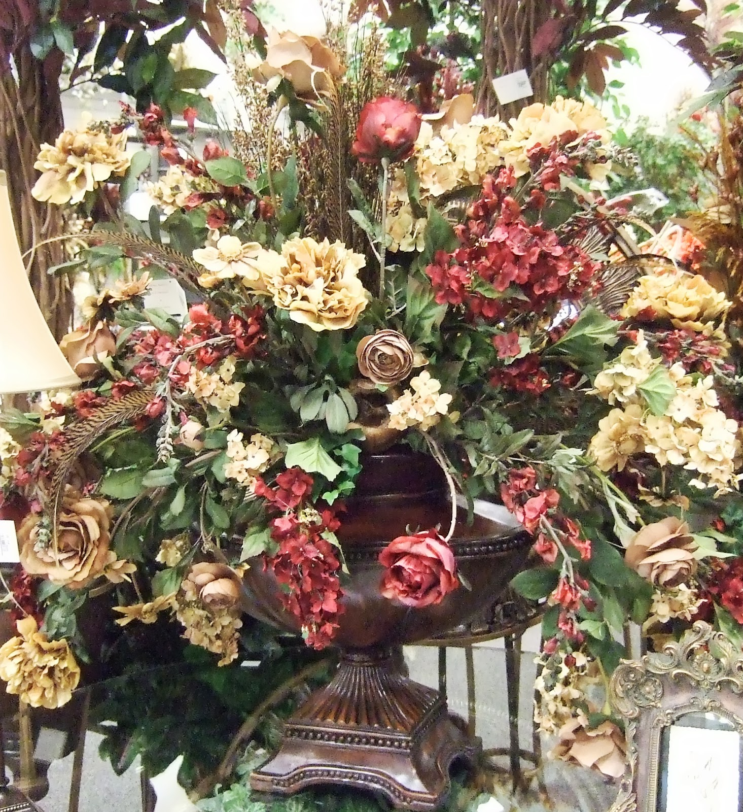 Ana silk flowers ideas elegant traditional for Artificial flowers decoration ideas