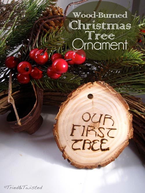 DIY Wood-Burned Christmas Tree Ornament