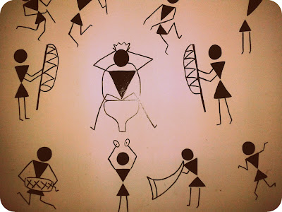 Wall art using Warli