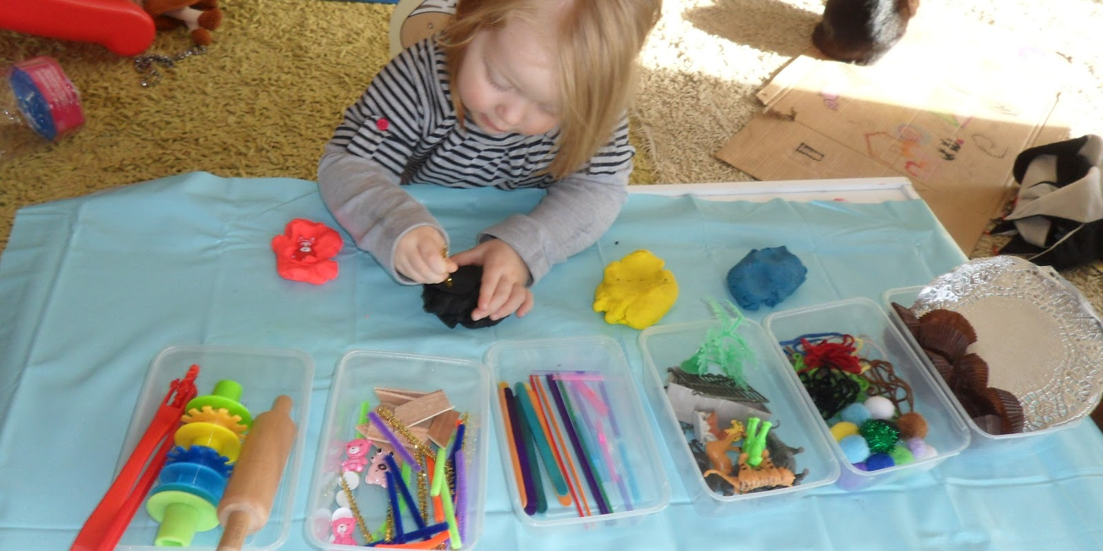 Learn with play at home multi material playdough exploration for Waste material object