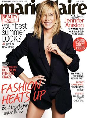 jennifer aniston sexy en la portada de la revista marie claire julio 2011