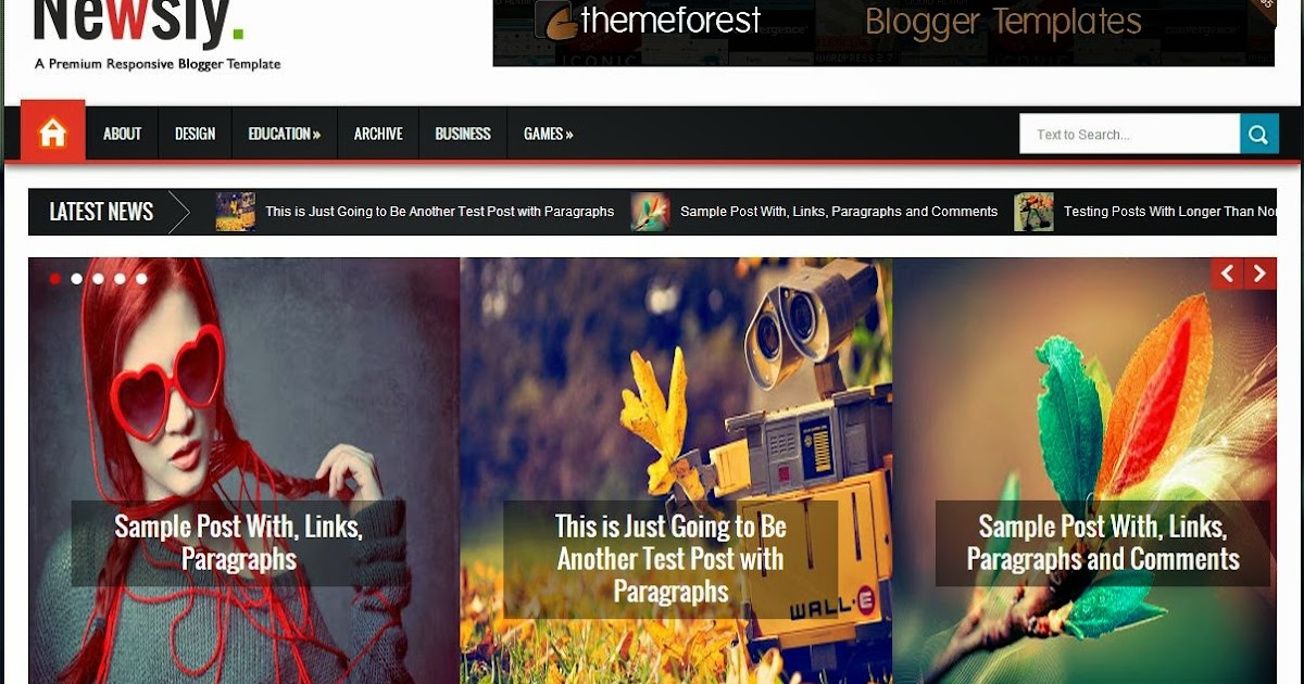 Download Free Newsly – Responsive Multipurpose Blogger Template for ...