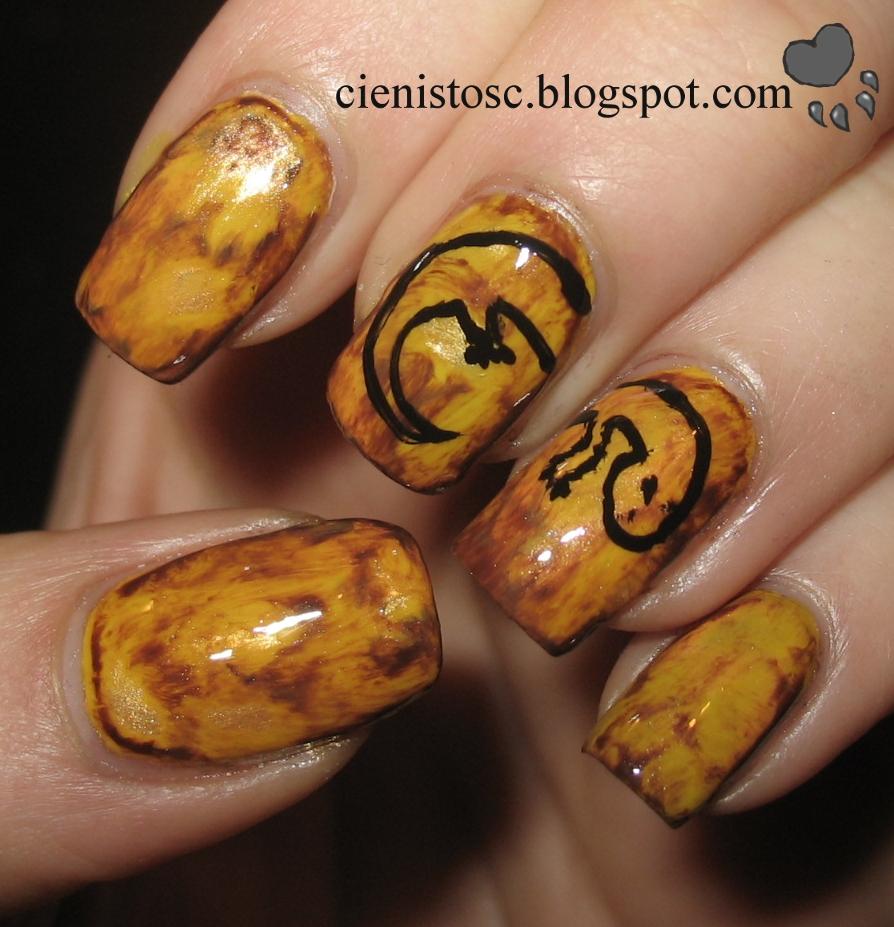 Tutorial: bursztynowe paznokcie