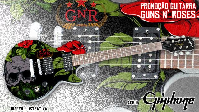 Concorrer guitarra exclusiva Gun's n' Roses 2014