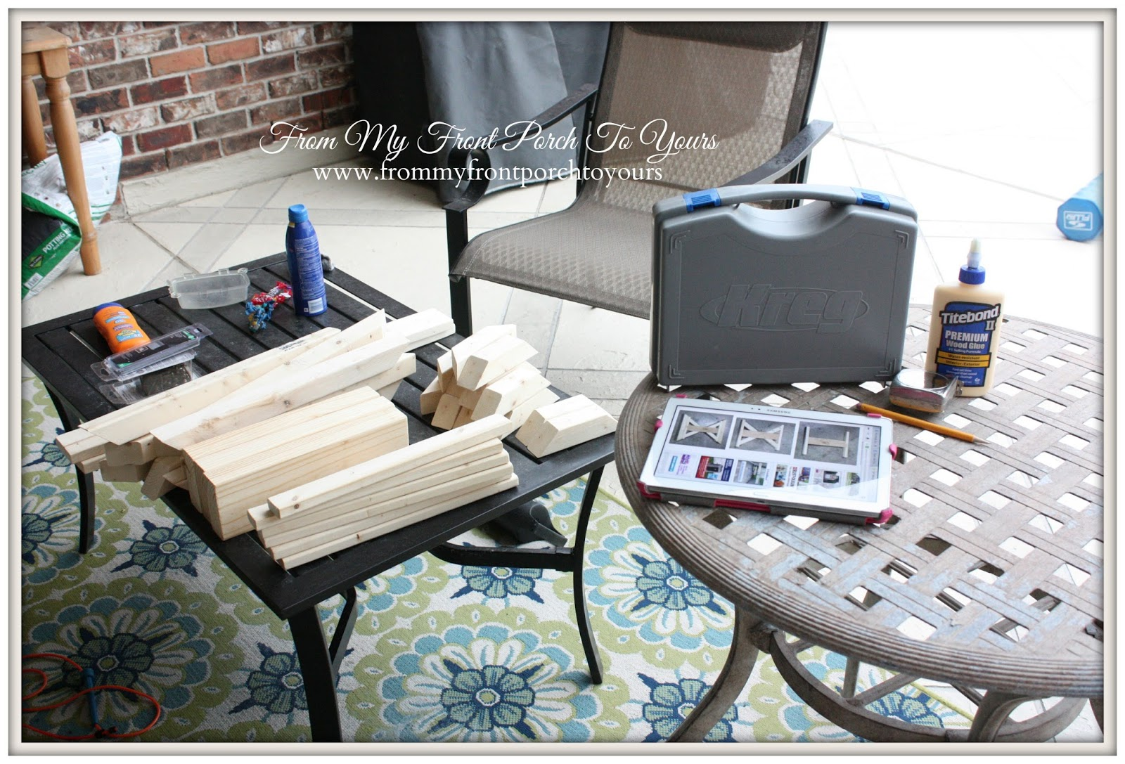 From My Front Porch To Yours- Anna White Fancy Farmhouse X Bench