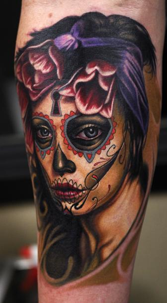 day of dead skull designs. Day of the Dead Skull Tattoo