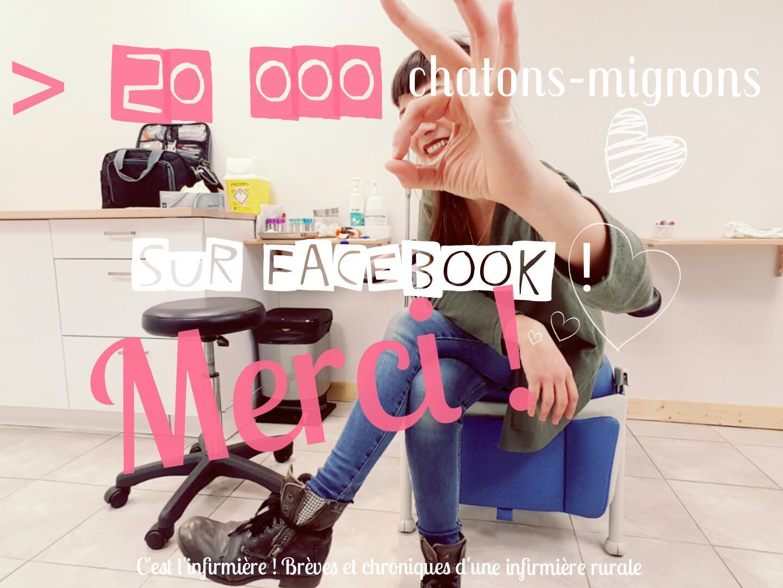 Vous êtes plus de 20 000 à me suivre sur Facebook ! Youhou !