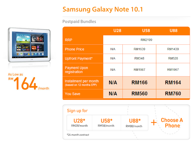 U Mobile Samsung Galaxy Note 10.1
