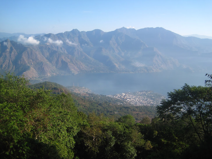 Lake Atitlan from the San Pedro Volcano