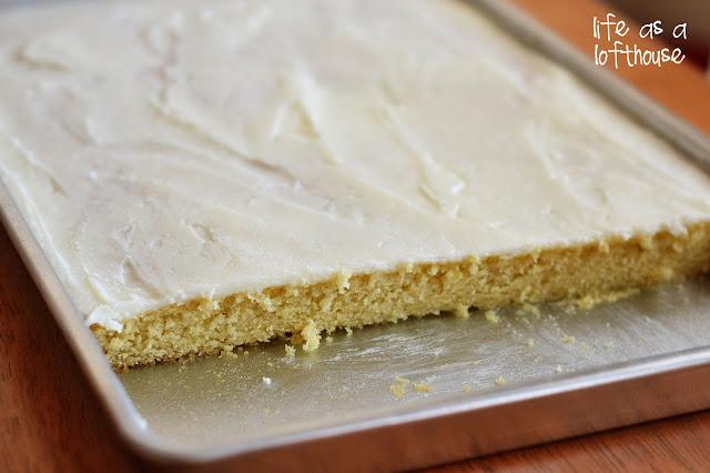 White Texas Sheet Cake Cupcakes