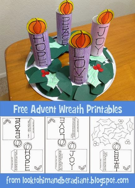http://looktohimandberadiant.blogspot.com/2014/11/kids-advent-wreath-free-printables.html
