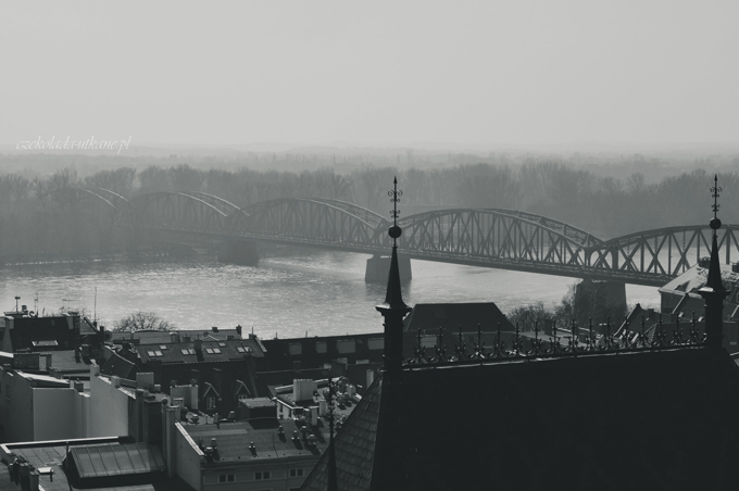 most, toruń, widok, panorama