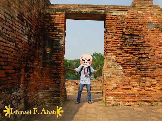 Ishmael Ahab at Wat Mahathat, Ayutthaya Historical Park