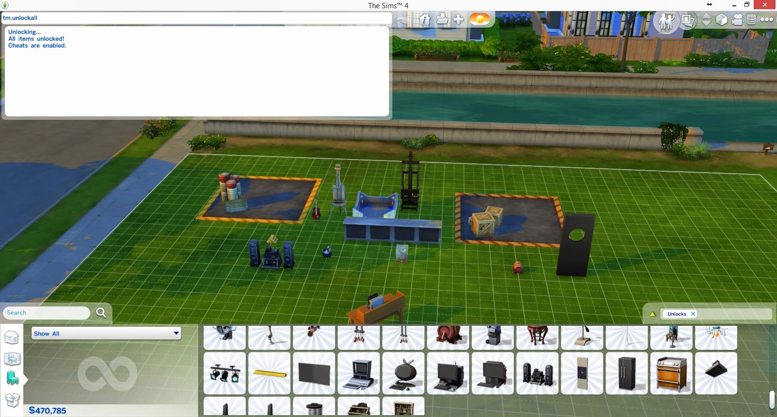Sims  Build Mode Cheat S