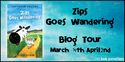 Zips Goes Wandering by Chris March   Children's Book Review + Giveaway