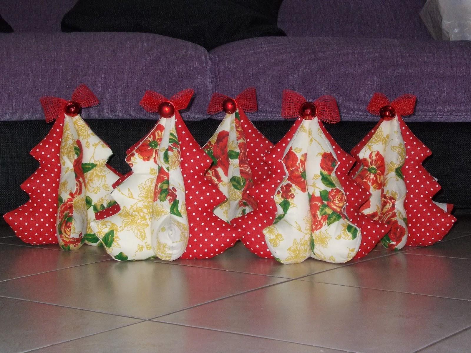 Salatodolceimma alberelli di natale in stoffa for Alberelli di natale