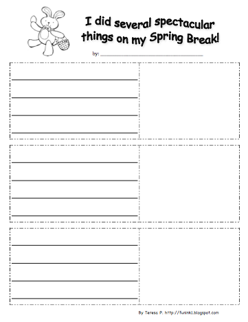 my spring break essay Get your students writing about what they did over their spring breaks with this cute writing paper with handwriting lines enjoy and please leave feedback.