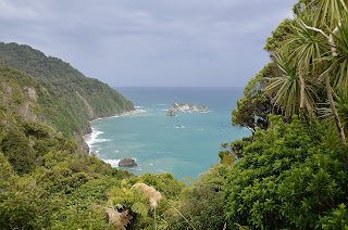 Tasman Sea at Knights Point in New Zealand