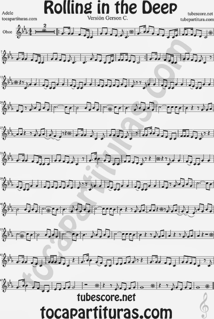 rolling in the deep piano sheet music pdf