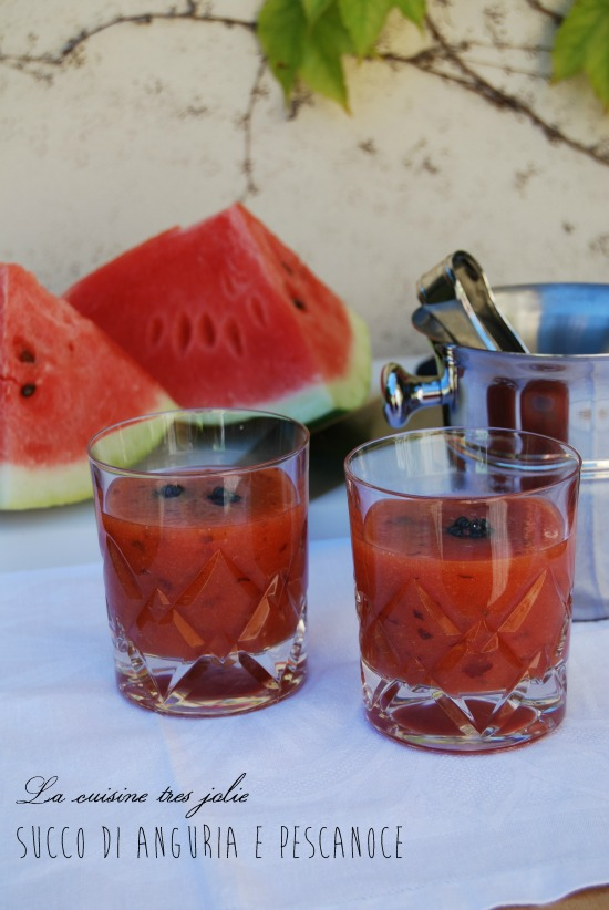 succo di anguria e pescanoce